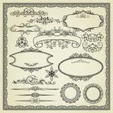 Conjunto de elementos del diseño Imagen de archivo libre de regalías