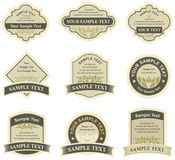 Conjunto de elementos del diseño Imagenes de archivo