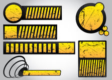 Conjunto de elementos del diseño de Grunge 2 Imagen de archivo