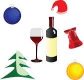 conjunto de elementos del diseño de la Navidad Foto de archivo libre de regalías