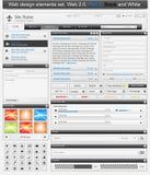 Conjunto de elementos del diseño de Web 2 Fotos de archivo