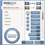 Conjunto de elementos del diseño de Web ilustración del vector