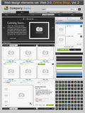 Conjunto de elementos del diseño de Web. Departamento en línea 2 Imagen de archivo libre de regalías