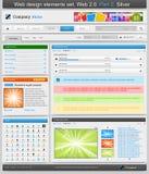 Conjunto de elementos del diseño de Web. Parte 2. Imagen de archivo libre de regalías