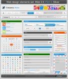 Conjunto de elementos del diseño de Web. Parte 3. Imagen de archivo libre de regalías