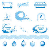 Conjunto de elementos del diseño del agua