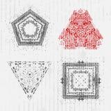 Conjunto de elementos del diseño del grunge Foto de archivo libre de regalías