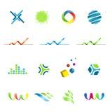 Conjunto de elementos del diseño del logotipo Imagen de archivo libre de regalías