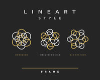 Conjunto de elementos del diseño Diseño elegante del monograma Imagen de archivo libre de regalías