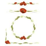 Conjunto de elementos del diseño floral Foto de archivo libre de regalías
