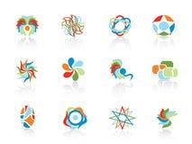Conjunto de elementos del extracto del color Stock de ilustración
