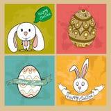 Conjunto de elementos feliz de Pascua libre illustration