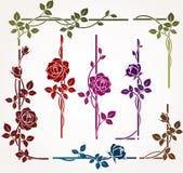 Conjunto de elementos florales ilustración del vector