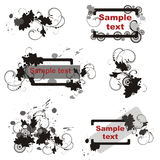 Conjunto de elementos florales del diseño gráfico. stock de ilustración
