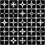 Conjunto de elementos gráfico. Diseño de las cruces. stock de ilustración