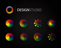 Conjunto de elementos gráficos de la insignia del diseño Foto de archivo