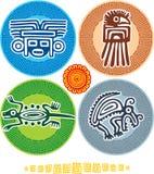 Conjunto de elementos mexicanos del diseño Fotografía de archivo