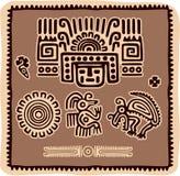 Conjunto de elementos mexicanos del diseño Imagenes de archivo