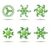 Conjunto de elementos verdes del diseño Imagen de archivo