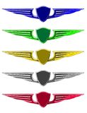Conjunto de emblemas Fotos de archivo
