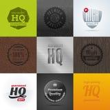 Conjunto de emblemas y de muestras de la alta calidad Imagenes de archivo