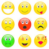 Conjunto de emoticons Fotografía de archivo libre de regalías