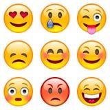 Conjunto de emoticons fotografía de archivo