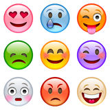 Conjunto de emoticons Imágenes de archivo libres de regalías