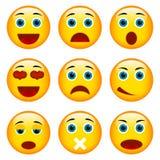 Conjunto de emoticons stock de ilustración