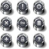 Conjunto de escritorio del botón del icono del ordenador Foto de archivo libre de regalías