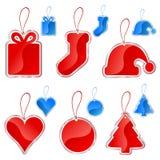 Conjunto de escritura de la etiqueta de la Navidad Fotos de archivo