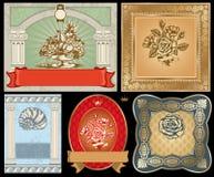 Conjunto de escritura de la etiqueta de la vendimia Imágenes de archivo libres de regalías