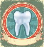 Conjunto de escritura de la etiqueta del diente. Vendimia Imagen de archivo libre de regalías