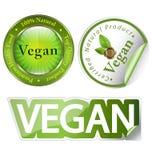 Conjunto de escritura de la etiqueta del vegano Imágenes de archivo libres de regalías