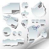 Conjunto de escrituras de la etiqueta Imágenes de archivo libres de regalías