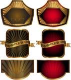 Conjunto de escrituras de la etiqueta coloreadas Imágenes de archivo libres de regalías