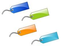 Conjunto de escrituras de la etiqueta coloridas Imagen de archivo libre de regalías