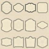 Conjunto de escrituras de la etiqueta de la elemento-vendimia del diseño. Imagen de archivo
