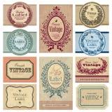 Conjunto de escrituras de la etiqueta de la vendimia () Fotografía de archivo libre de regalías