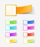 Conjunto de escrituras de la etiqueta del color Imágenes de archivo libres de regalías