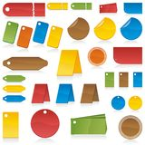 Conjunto de escrituras de la etiqueta del color Libre Illustration