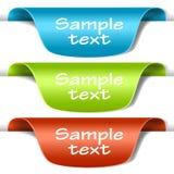 Conjunto de escrituras de la etiqueta multicoloras de la etiqueta Fotografía de archivo libre de regalías