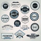Conjunto de escrituras de la etiqueta y de elementos del asunto ilustración del vector