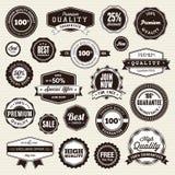 Conjunto de escrituras de la etiqueta y de etiquetas engomadas libre illustration