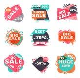 Conjunto de escrituras de la etiqueta modernas de la venta ilustración del vector