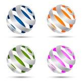 Conjunto de esferas abstractas ilustración del vector