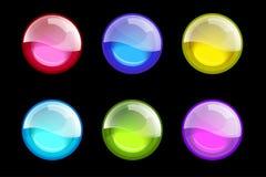 Conjunto de esferas coloreadas Botones brillantes del Web fijados Esferas brillantes stock de ilustración