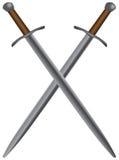 Conjunto de espadas medievales Foto de archivo libre de regalías
