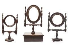 Conjunto de espejos antiguos Foto de archivo libre de regalías