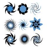Conjunto de espirales Fotos de archivo libres de regalías